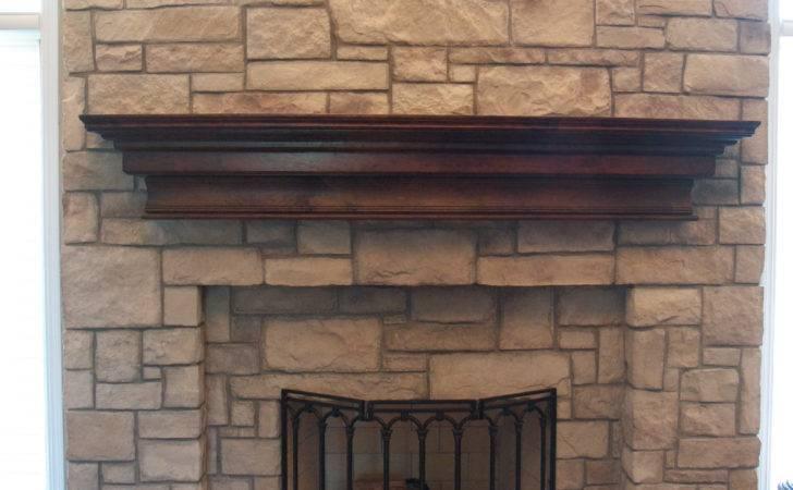 Cobble Stone Veneer Fireplace North Star