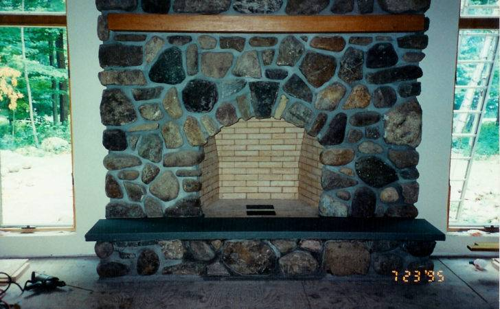 Cobblestone Fireplace Mason Patrick Seiler