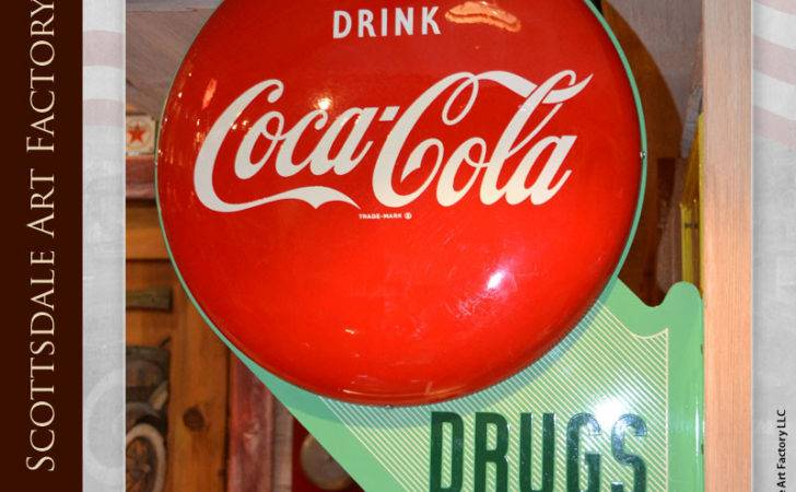Coca Cola Button Drugstore Sign Vintage Advertisements