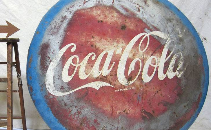 Coca Cola Button Sign Fab