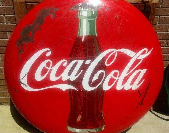 Coca Cola Button Sign Very Rare Rarefindsoneofakinds