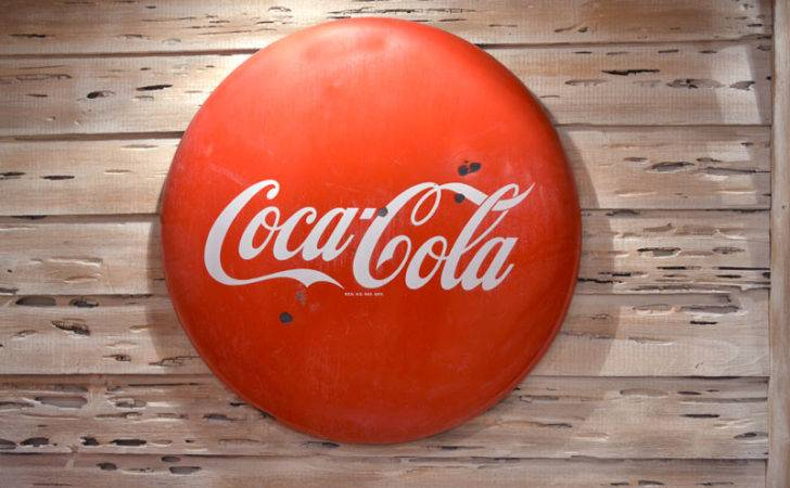 Coca Cola Signs Top Dollar Real Button
