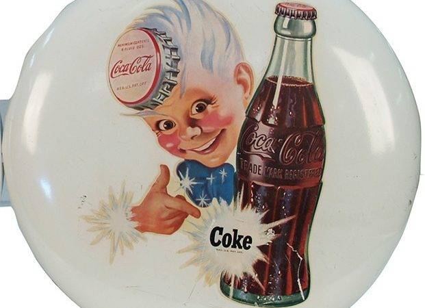 Coca Cola Sprite Boy White Tin Button Sign Lot