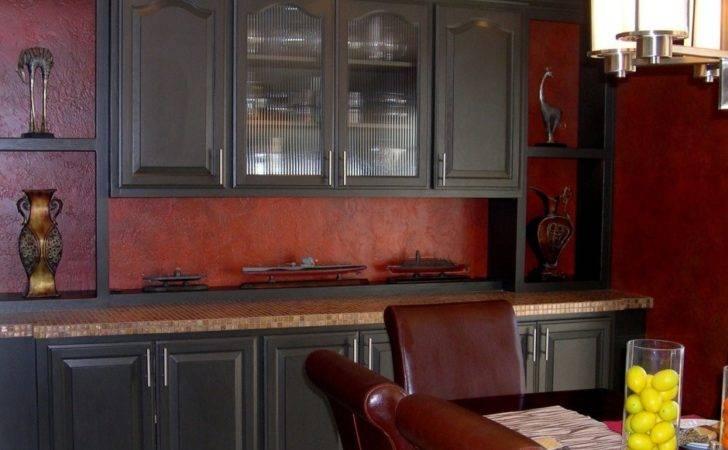 Cocina Beige Paredes Rojas Kitchen Red Wallsjpg