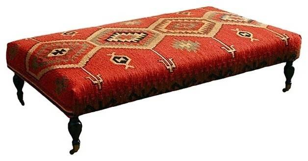 Coffee Table Captivating Kilim Ottoman Covered