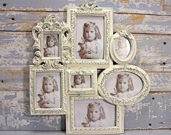 Collage Frame Large White Wedding Shabby Cottage Chic Wall Dec