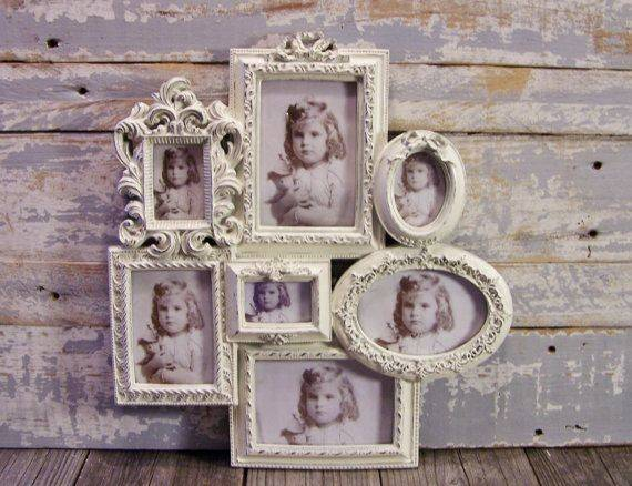 Collage Frame Large White Wedding Shabby Cottage Chic Wall