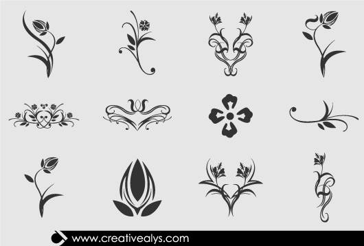 Collection Beautiful Floral Design Elements Can Make Your Designs