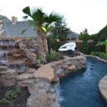 Colleyville Residential Lazy River Tropical Pool Dallas