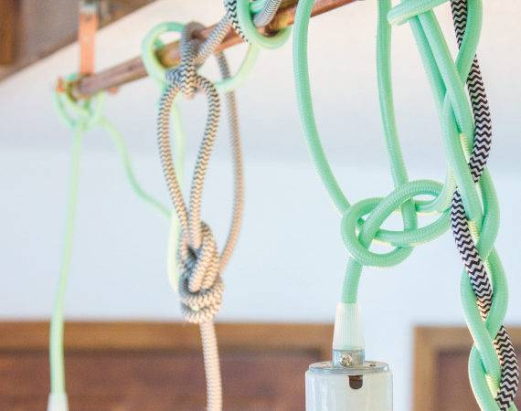Color Cord Pendant Lights Tutorial Going Home Roost