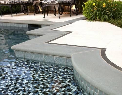 Color Trim Around Concrete Pool