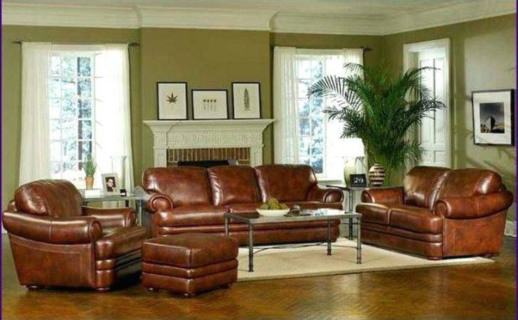 Color Walls Brown Leather Furniture Best