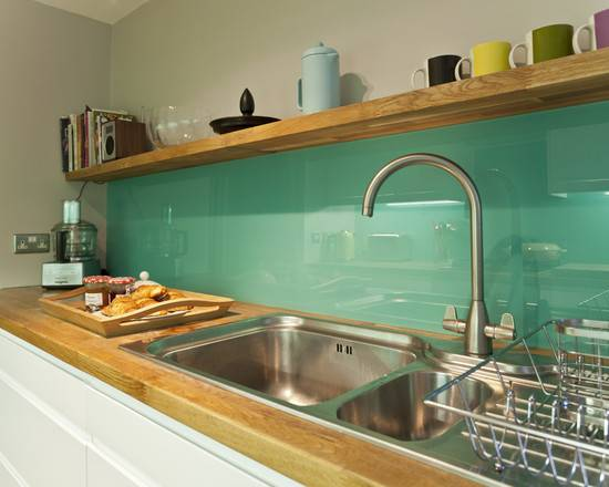 Colored Glass Backsplash Beautiful Homes Design