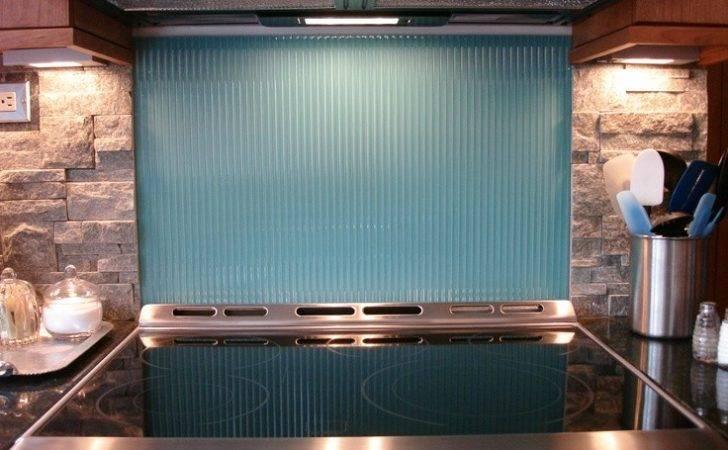 Colored Glass Backsplash Home Improvement Pinterest