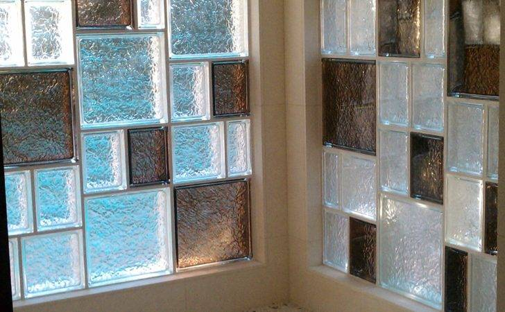 Colored Glass Block Bathroom Window Basement
