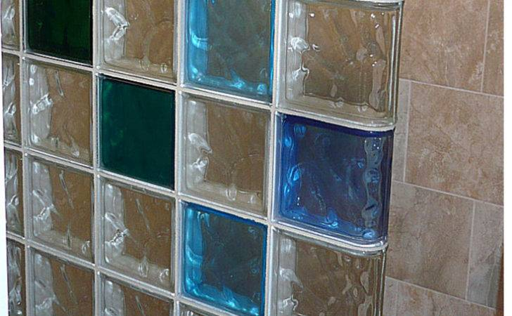 Colored Glass Block Wall Provides Stylish Durable Alternative