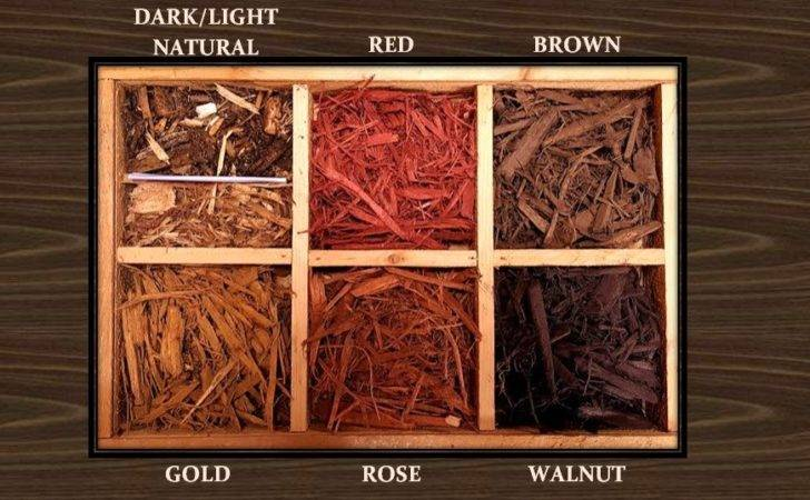 Colored Mulch Colors Choose Light Natural Dark Red