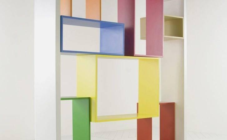 Colorful Bookshelf Unit Modular Shelving System Mobile Libreria