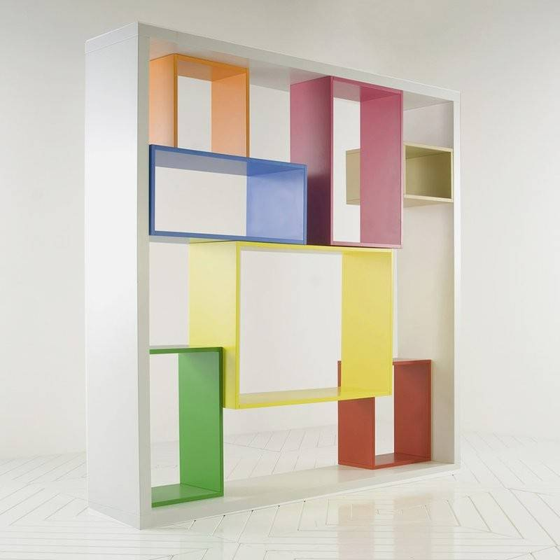Colorful Bookshelf Unit Modular Shelving System Mobile Libreria