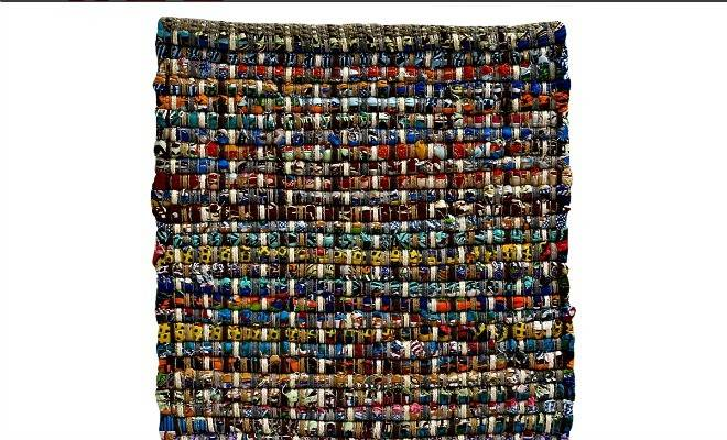 Colorful Textured Recycled Cotton Rug Source Website