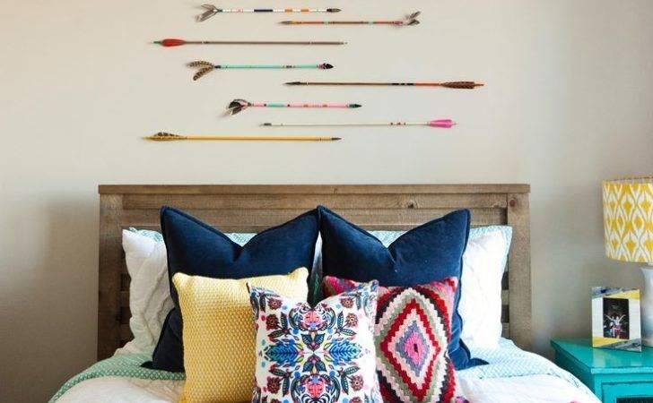 Colorful Tribal Eclectic Teen Girl Bedroom Arrows Navy Hot