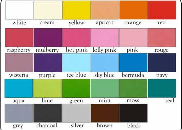 Colour Chart Blocks Satin Finish Handpainted Only Colours