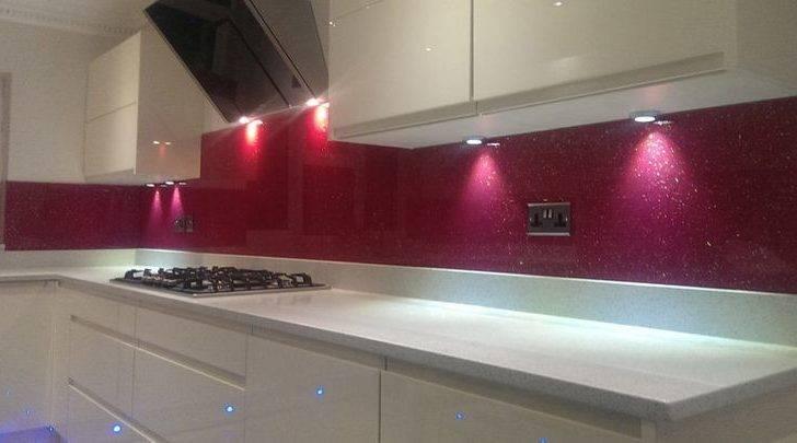 Coloured Glass Kitchen Backsplash Creoglass Design London