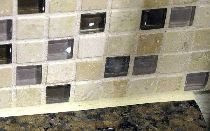 Coloured Glass Tiles Backsplash