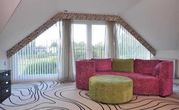 Colourful Designer Funky Modern Green Pink White Bedroom Living Room