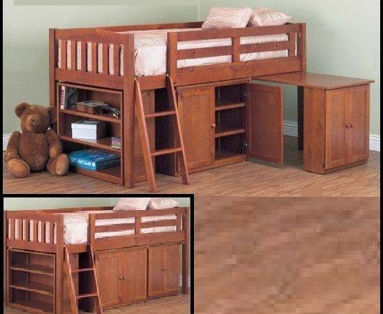 Colt Cabin Bunk Bed Loft Midi Sleeper Desk Bookcase Cupboard Timber