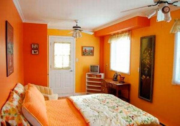 Combination Classical Bedroom Peach Creamy Yellow Coral