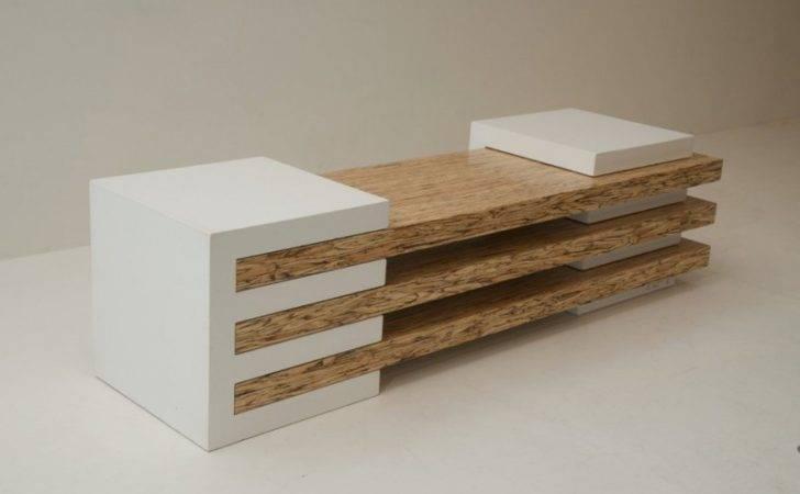 Combination Contemporary Bench Concrete Wood