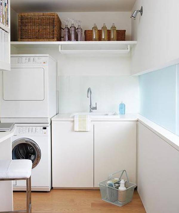 Combination Laundry Room Small Space Paint Color Ideas