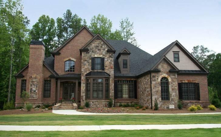Combination Wall Stone Brick Homes Architect Design Dickoatts