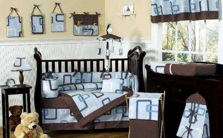 Comfortable Baby Bedding Sets Blue Brown