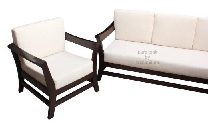 Comfortable Sofa Set Teakwood Lose Cushions