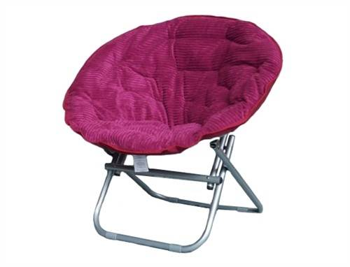 Comfy Chair Bedroom Red Surface Soft Ottoman Design