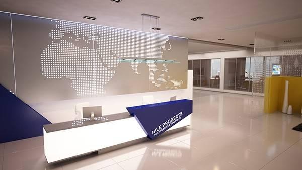 Company Reception Counter Design Behance