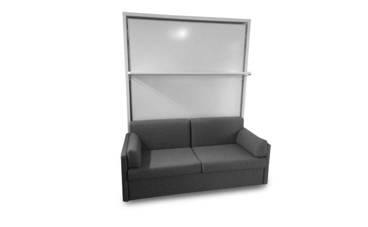 Compatto Murphy Bed Over Sofa Floating Shelf Expand Furniture