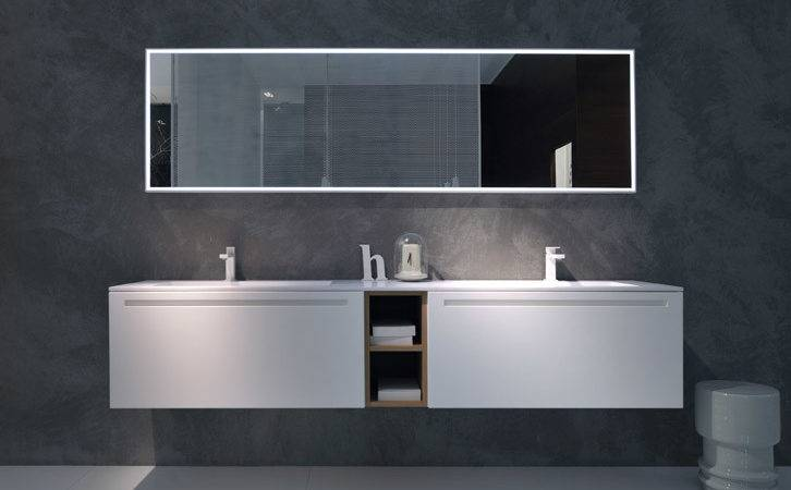 Complete Versatile Modular Bathroom Furniture System Via