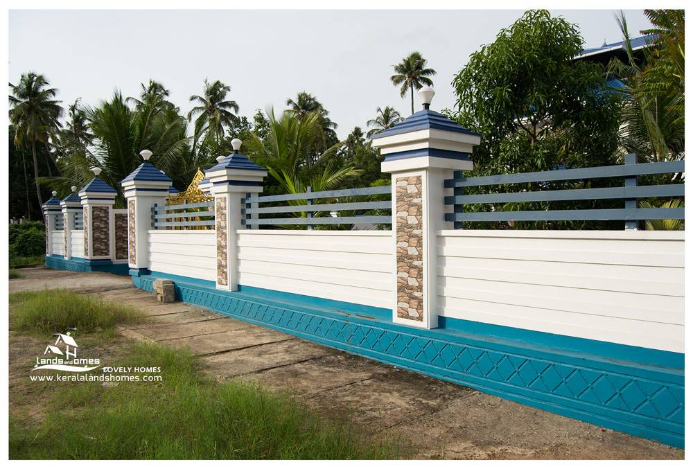 Compound Wall Gate Designs Kerala Stylereal Estate