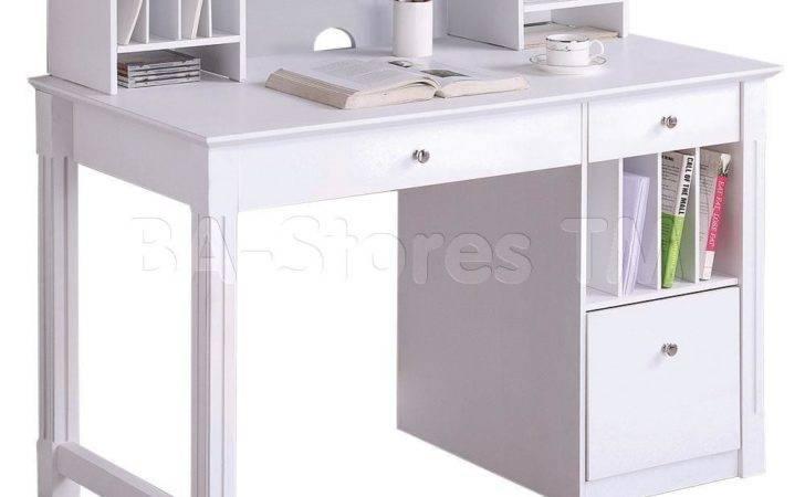 Computer Desk Hutch White Office Desks Wke Dhwh