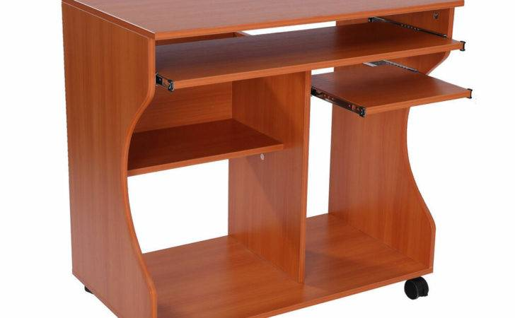 Computer Desk Laptop Writing Table Storage Shelf