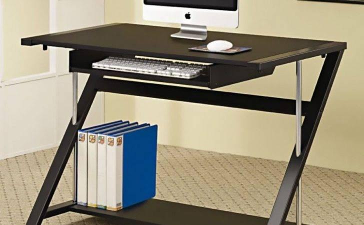Computer Desk Sliding Style Simple Keyboard Shelf Space Base