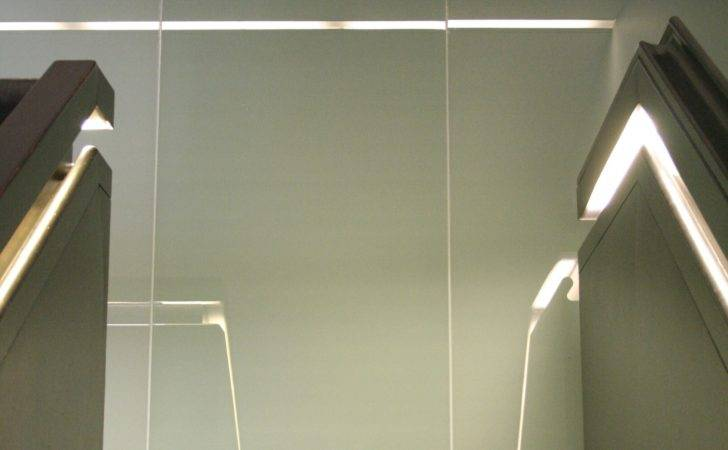Concealed Handrail Lighting Reflected Glass Lined Wall