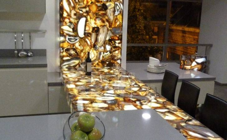Concetto Brown Agate Back Lighting Makes Great
