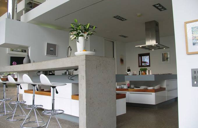 Concrete Built Kitchen Furniture Design Ideas