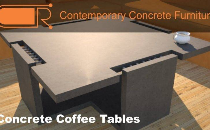 Concrete Coffee Table Furniture Designs Rudy Youtube
