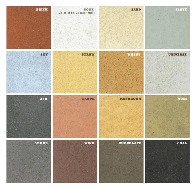 Concrete Countertop Color Chart Decorative Virginia
