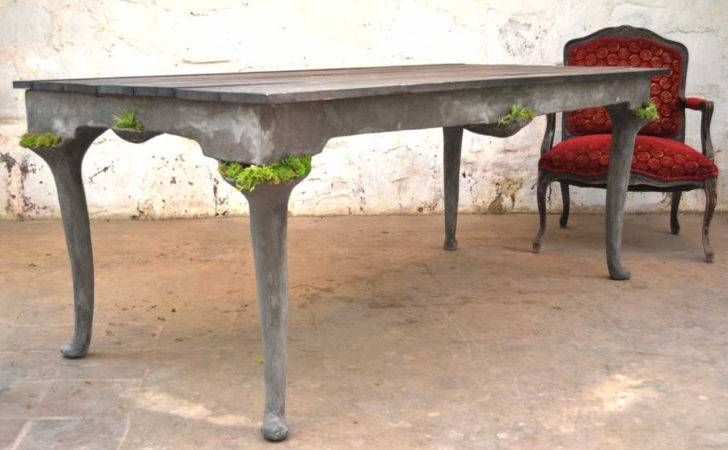 Concrete Furniture Pockets Living Plants Opiary